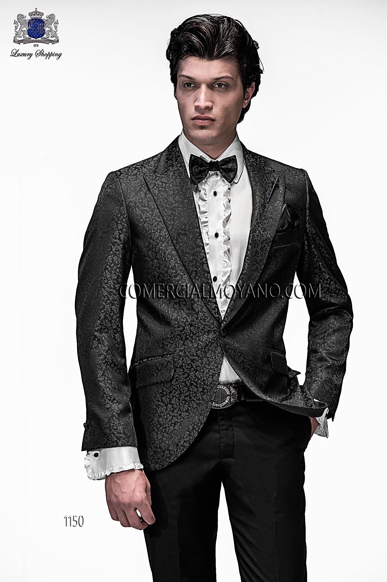 Traje de moda hombre negro/gris modelo: 1150 Ottavio Nuccio Gala colección Emotion