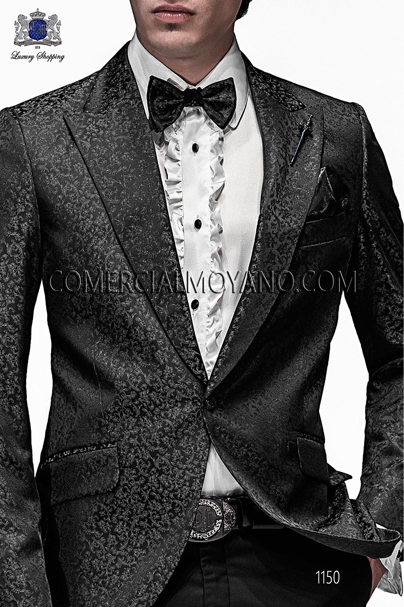 Italian emotion black/gray men wedding suit, model: 1150 Ottavio Nuccio Gala Emotion Collection