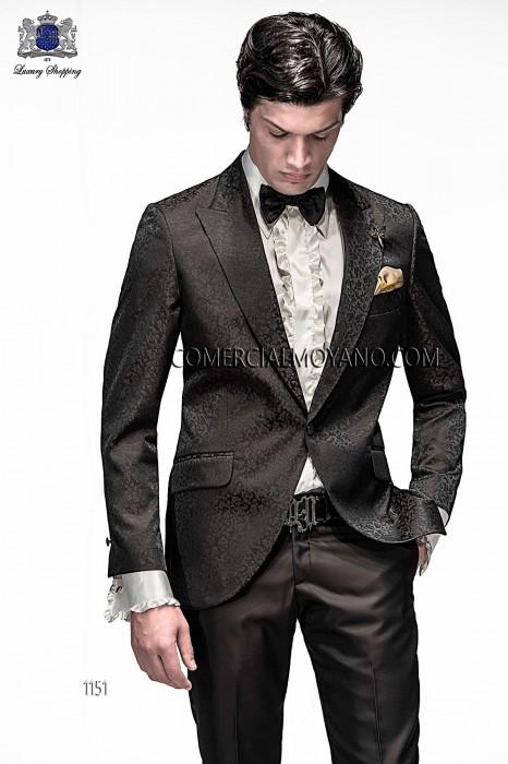 Italian black/gold brocade fashion jacket