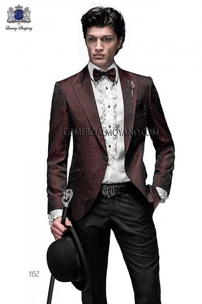 Traje de novio moderno negro/rojo modelo 1152 colección Emotion Ottavio Nuccio Gala