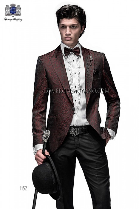 Italian black/red brocade fashion jacket