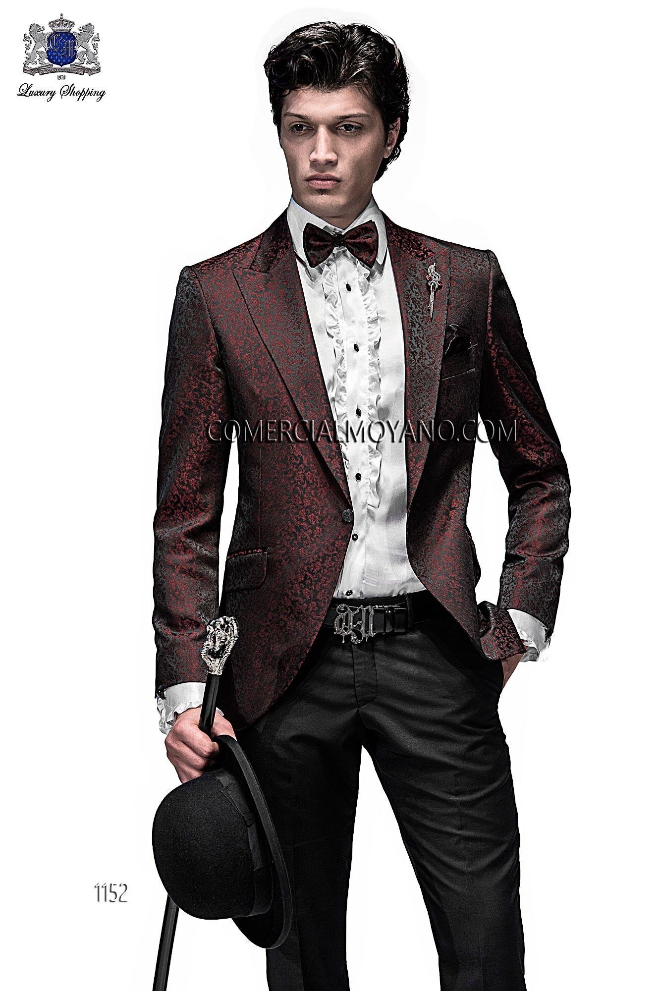 Traje de moda hombre negro/rojo modelo: 1152 Ottavio Nuccio Gala colección Emotion
