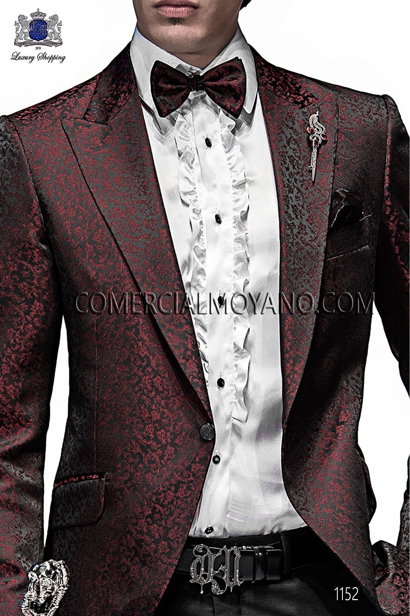 Italian emotion black/red men wedding suit, model: 1152 Ottavio Nuccio Gala 2017 Emotion Collection