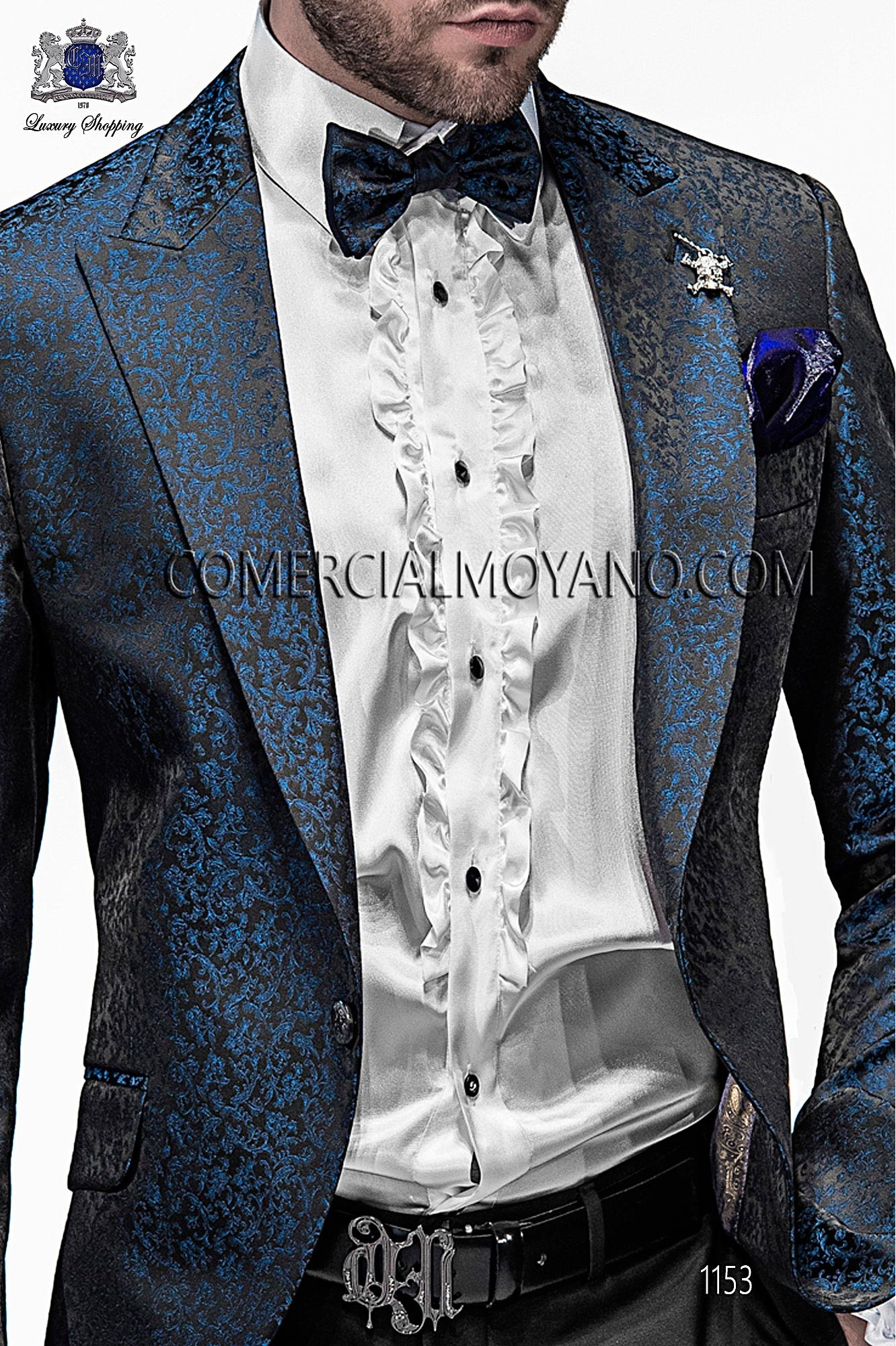 Italian emotion black/ blue men wedding suit, model: 1153 Ottavio Nuccio Gala Emotion Collection
