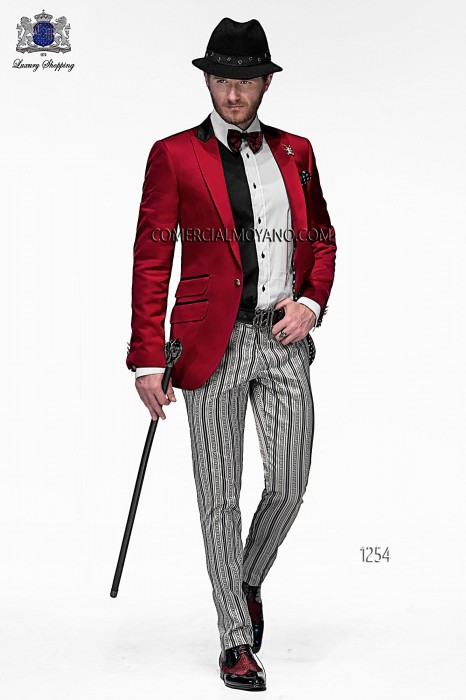 Italian red fashion suit