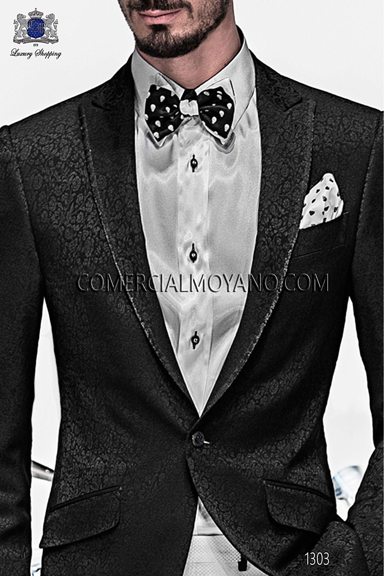 Italian emotion black men wedding suit, model: 1303 Ottavio Nuccio Gala Emotion Collection