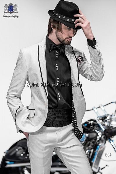 Traje de novio moderno blanco modelo 1304 colección Emotion Ottavio Nuccio Gala