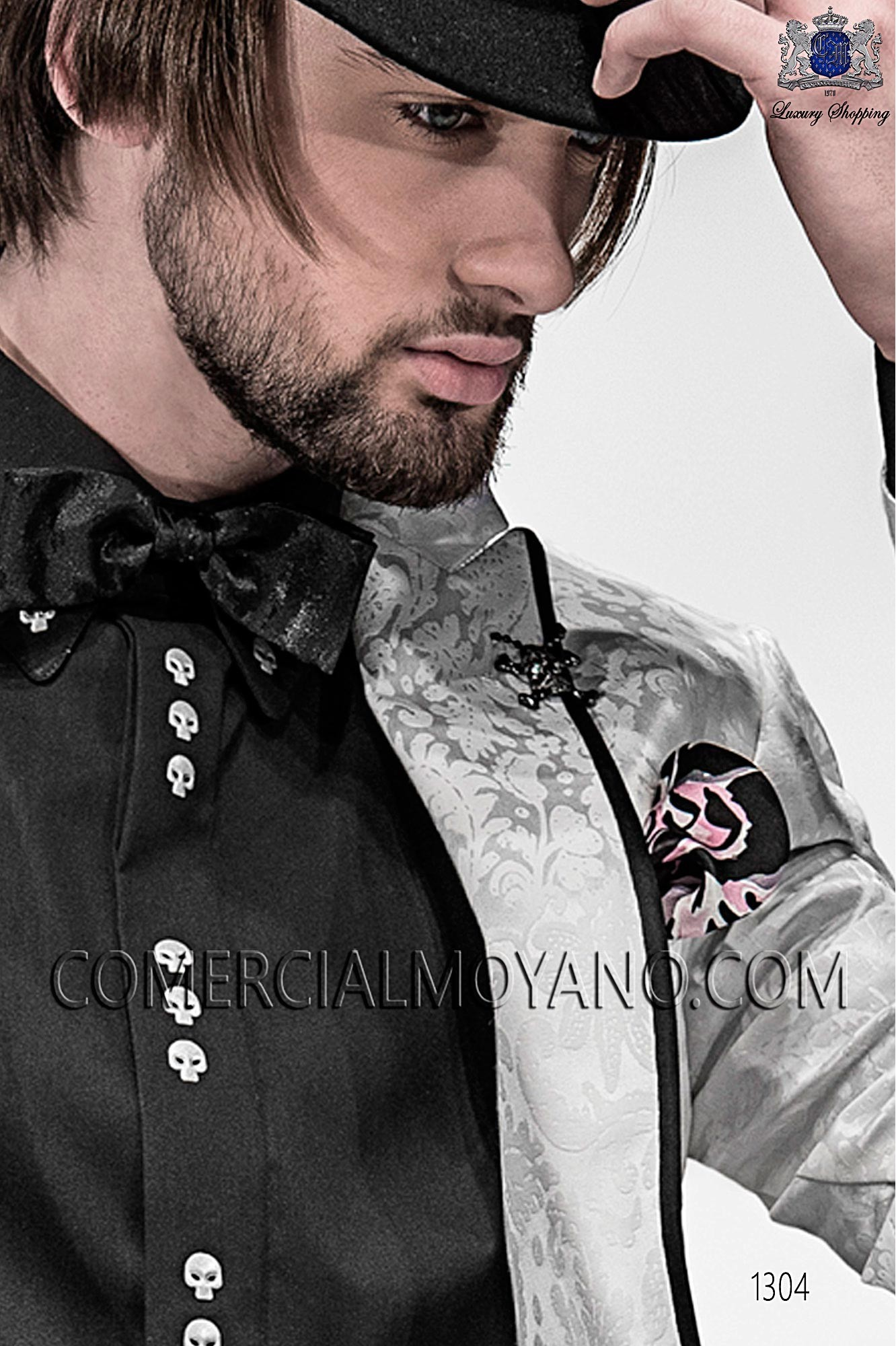 Italian emotion white men wedding suit, model: 1304 Ottavio Nuccio Gala Emotion Collection