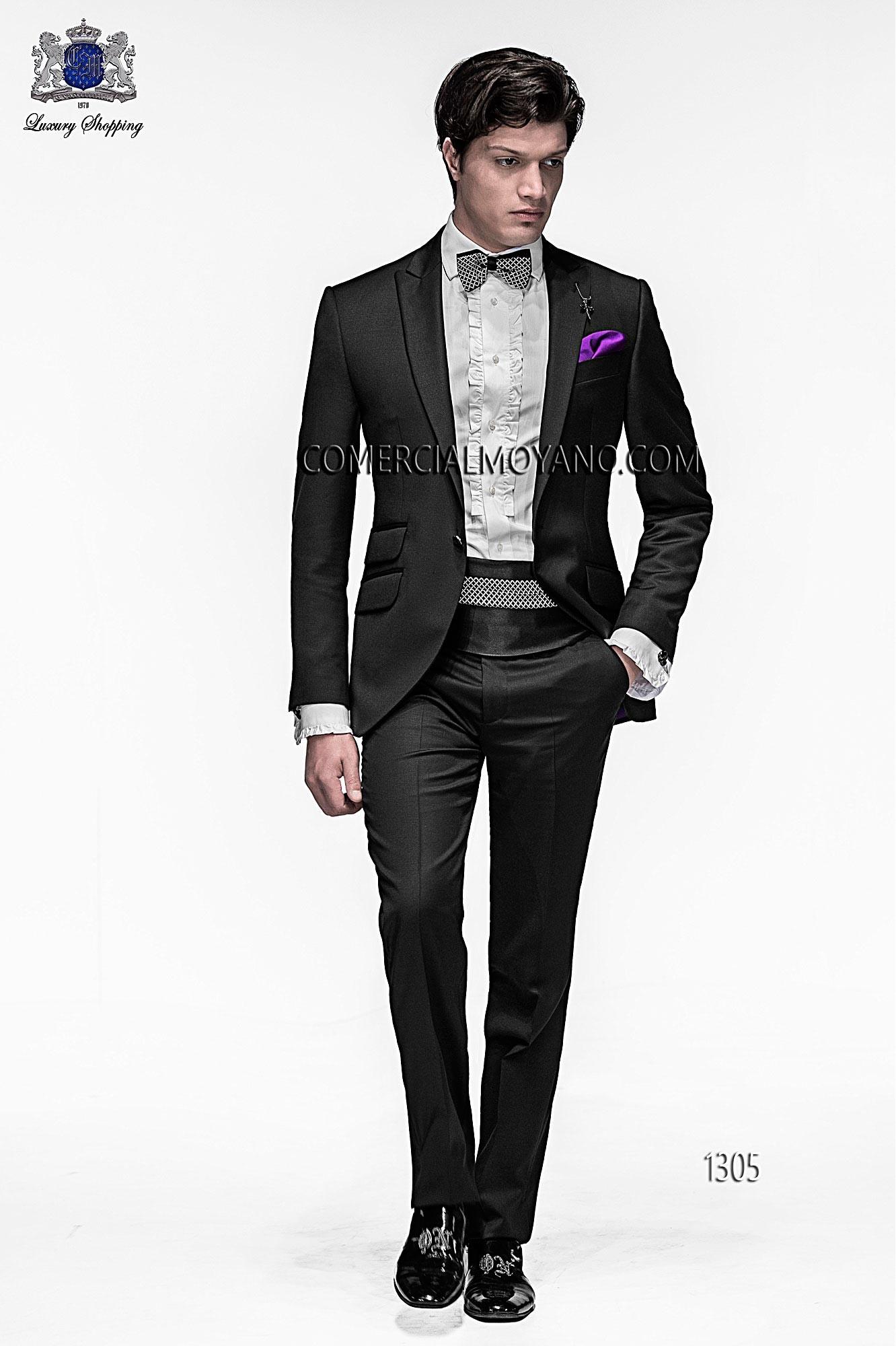 Traje de moda hombre negro modelo: 1305 Ottavio Nuccio Gala colección Emotion 2017