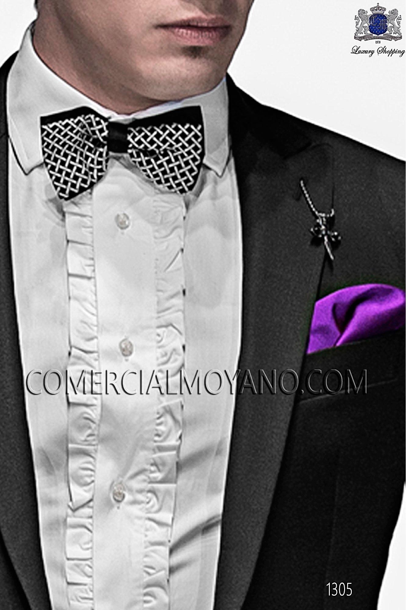 Italian emotion black men wedding suit, model: 1305 Ottavio Nuccio Gala 2017 Emotion Collection