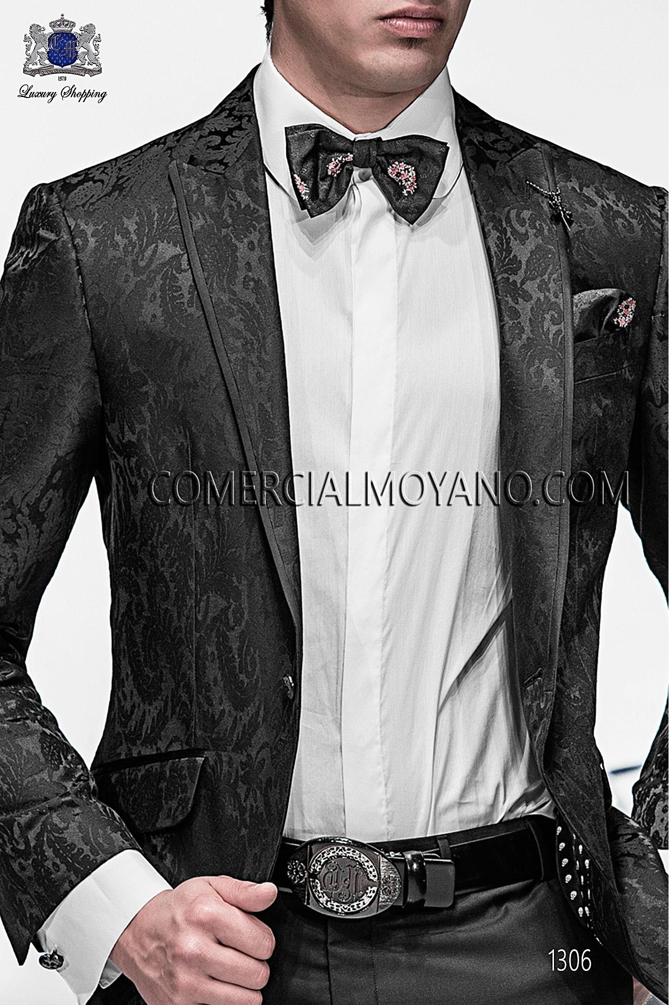 Italian emotion black men wedding suit, model: 1306 Ottavio Nuccio Gala 2017 Emotion Collection