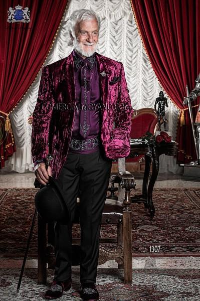 Italian emotion burgundy men wedding suit style 1307 Ottavio Nuccio Gala