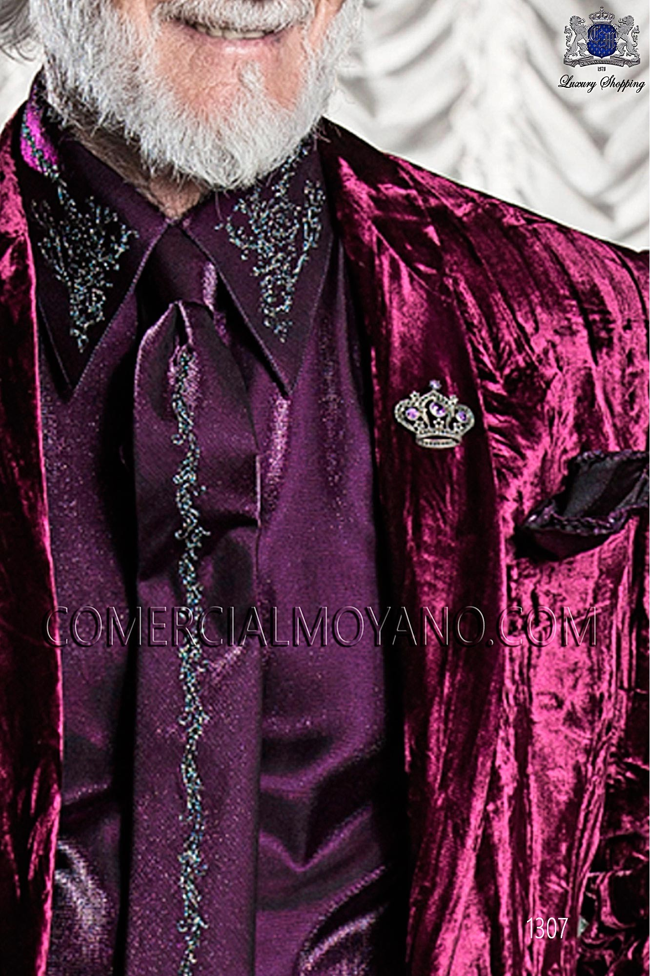 Italian emotion purple men wedding suit, model: 1307 Ottavio Nuccio Gala Emotion Collection