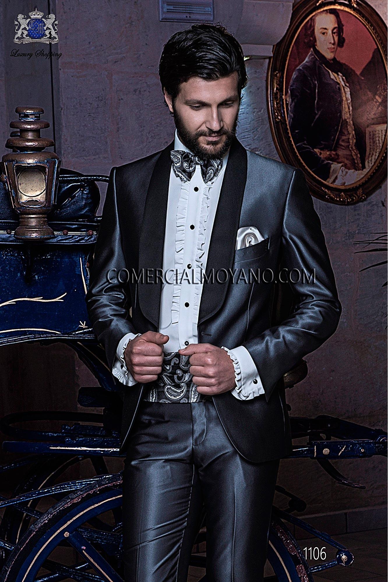 Traje BlackTie de novio gris modelo: 1106 Ottavio Nuccio Gala colección Black Tie 2017