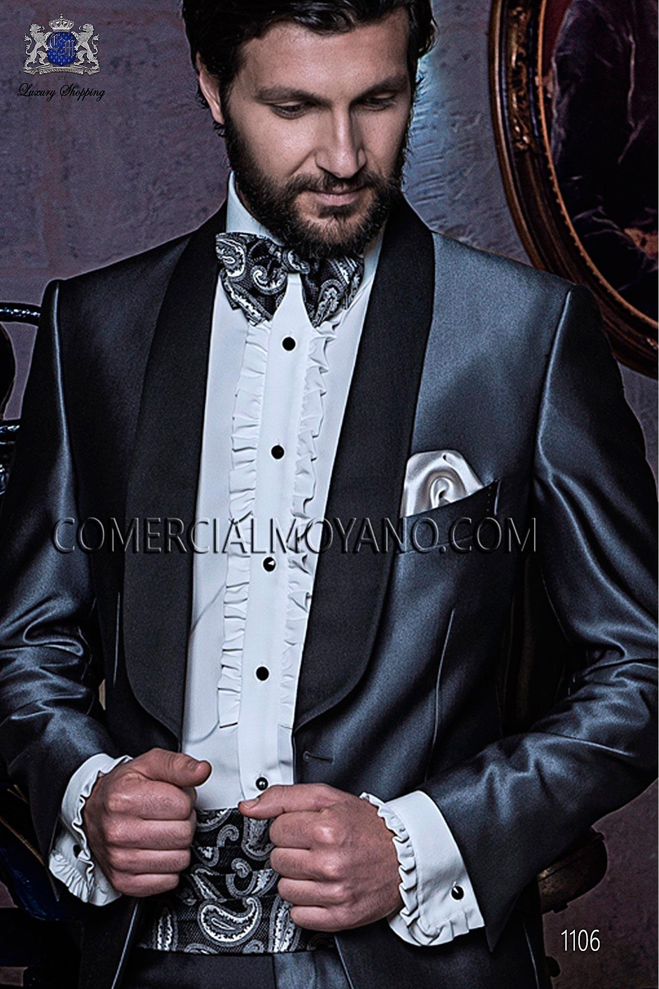 Italian blacktie Gray men wedding suit, model: 1106 Ottavio Nuccio Gala Black Tie Collection