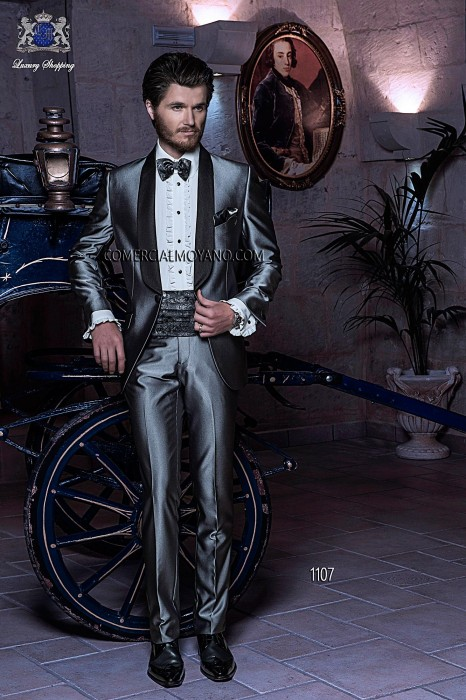 Italian gray tuxedo wedding suit