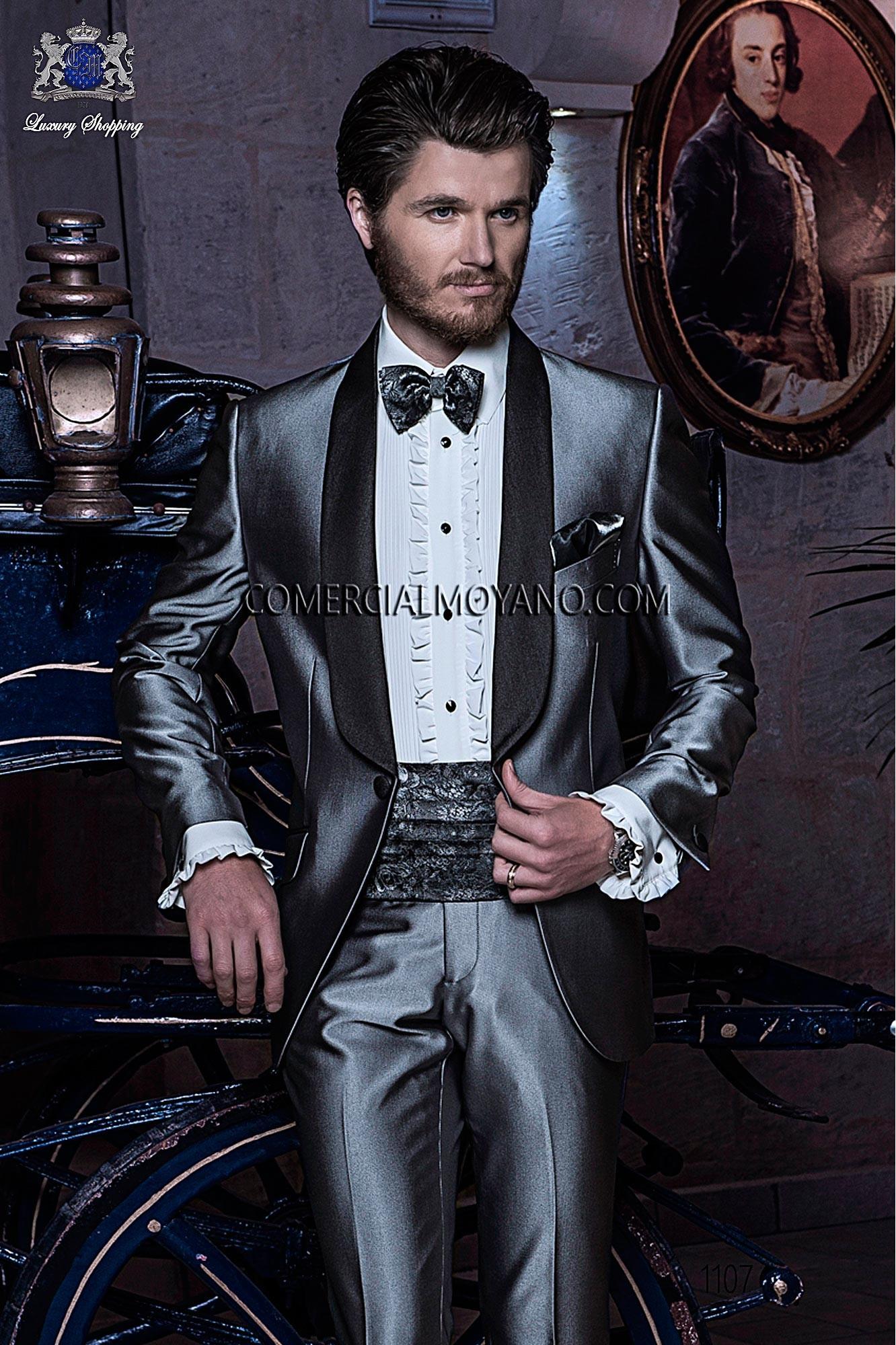 Traje BlackTie de novio gris modelo: 1107 Ottavio Nuccio Gala colección Black Tie