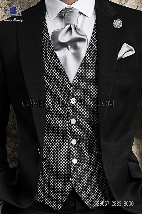 Black silk waistcoat