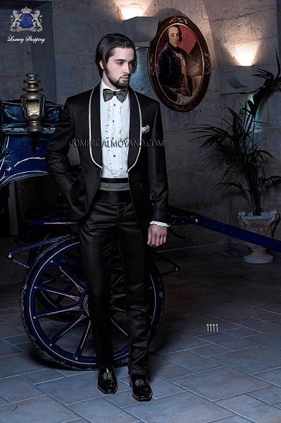 Italian blacktie black men wedding suit style 1111 Ottavio Nuccio Gala
