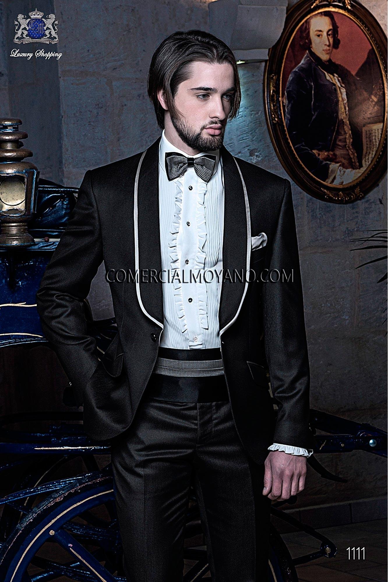 Traje BlackTie de novio negro modelo: 1111 Ottavio Nuccio Gala colección Black Tie 2017