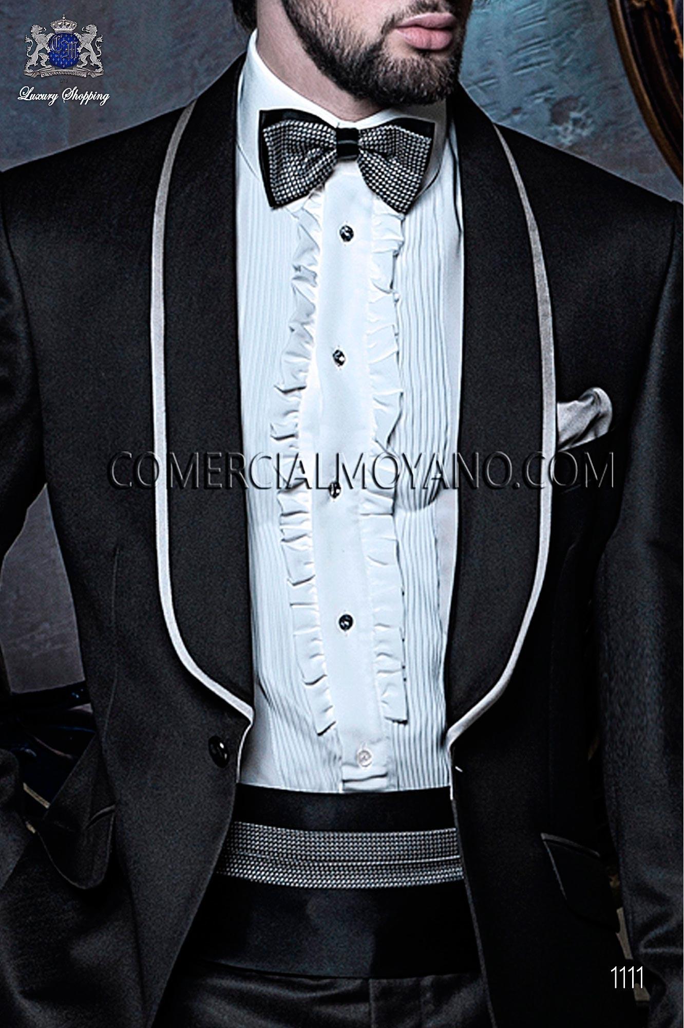 Italian blacktie Black men wedding suit, model: 1111 Ottavio Nuccio Gala Black Tie Collection