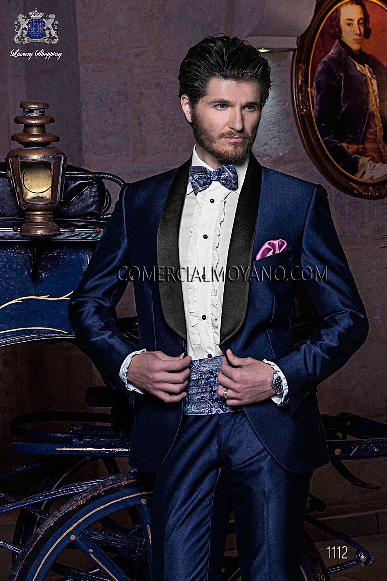 Traje BlackTie de novio azul modelo: 1112 Ottavio Nuccio Gala colección Black Tie