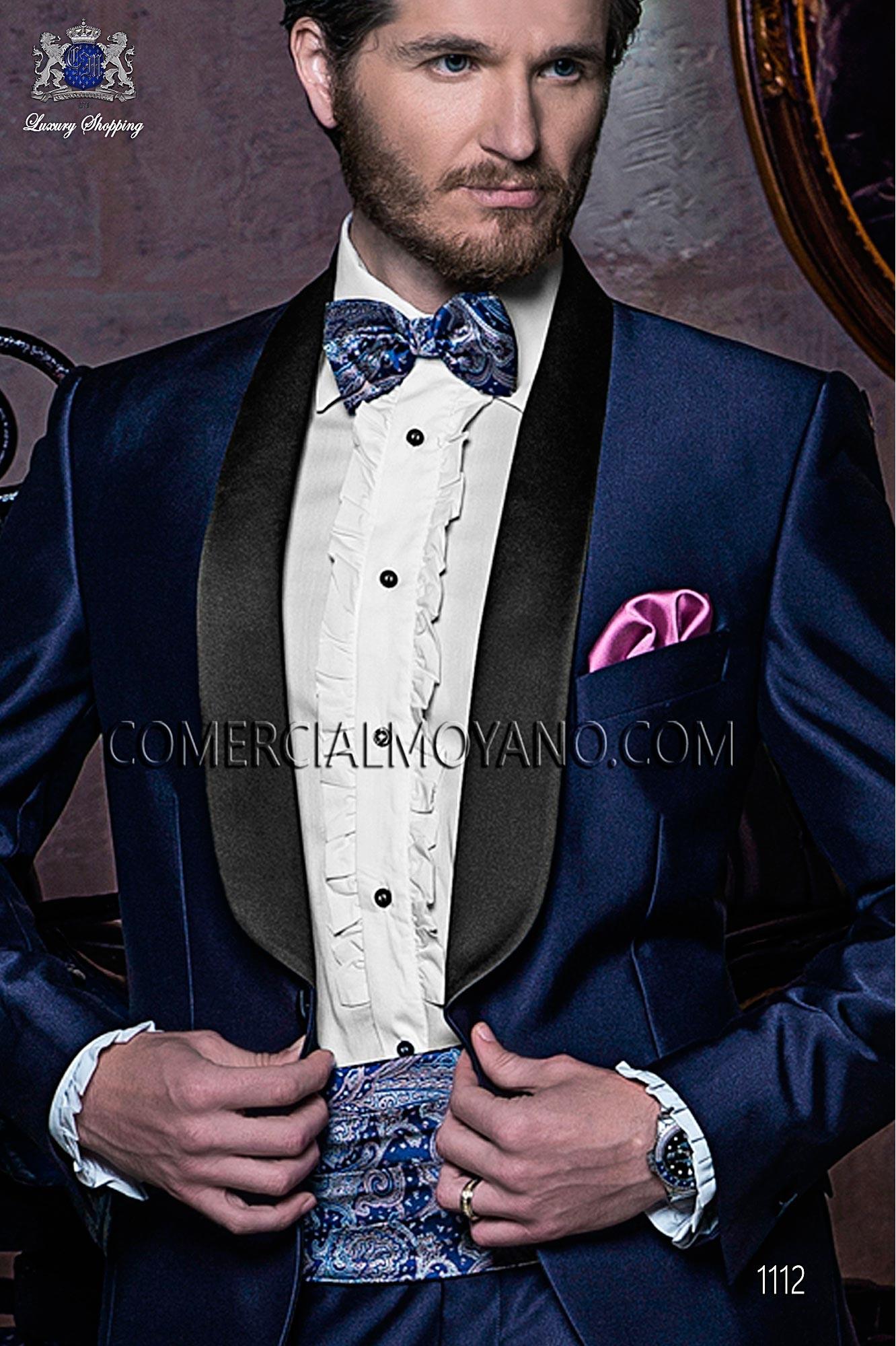Italian blacktie Blue men wedding suit, model: 1112 Ottavio Nuccio Gala Black Tie Collection