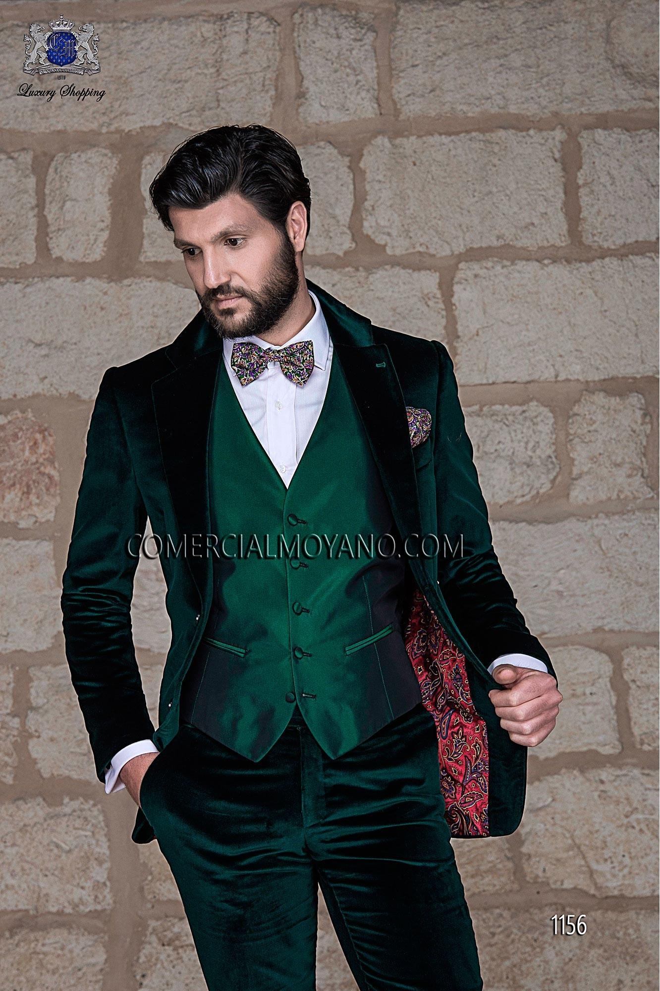 Black Tie green men wedding suit model 1156 Ottavio Nuccio Gala