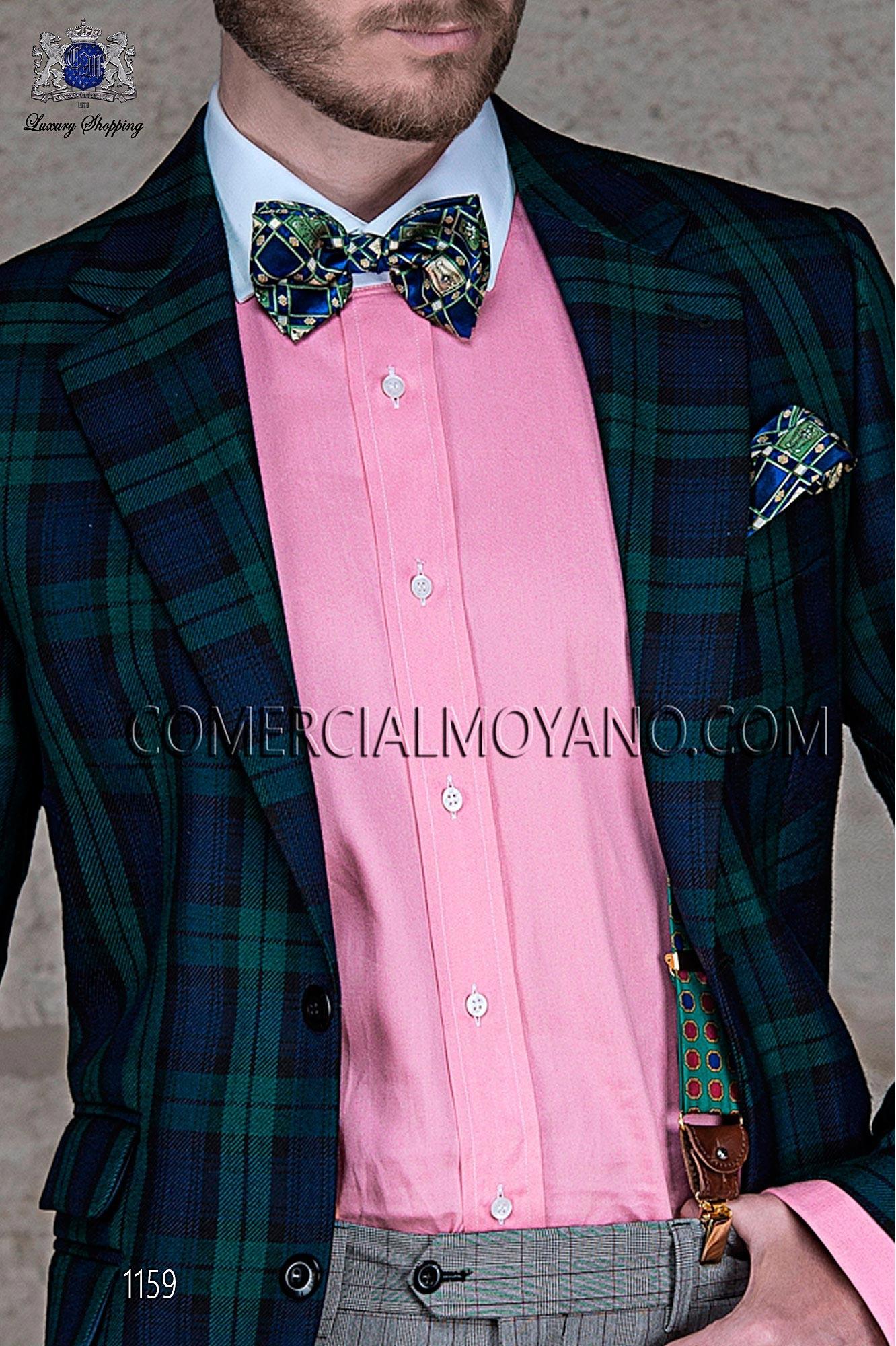 Traje BlackTie de novio tartán verde-azul modelo: 1159 Ottavio Nuccio Gala colección Black Tie 2017