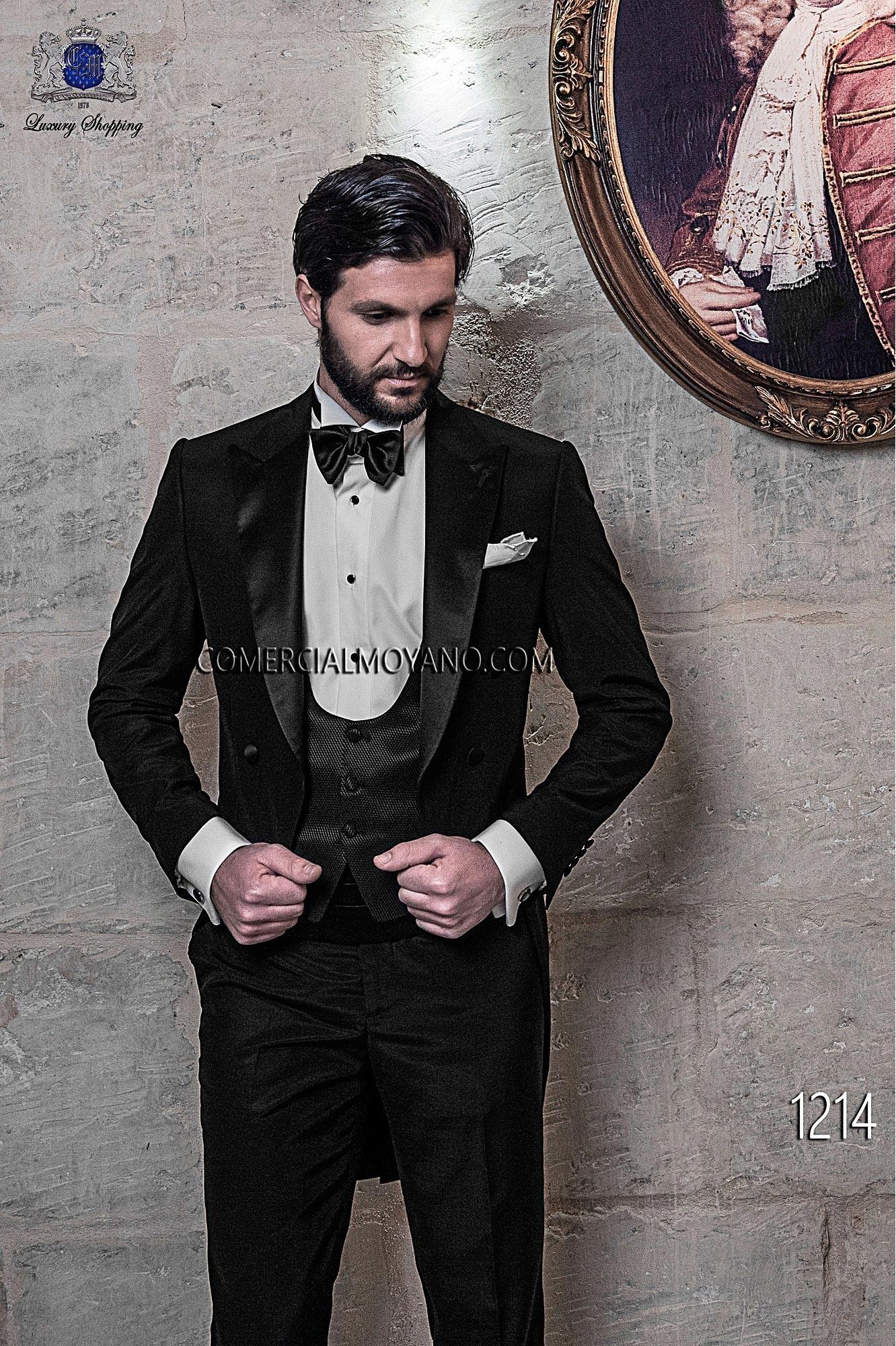 Black Tie Black men wedding suit model 1214 Ottavio Nuccio Gala