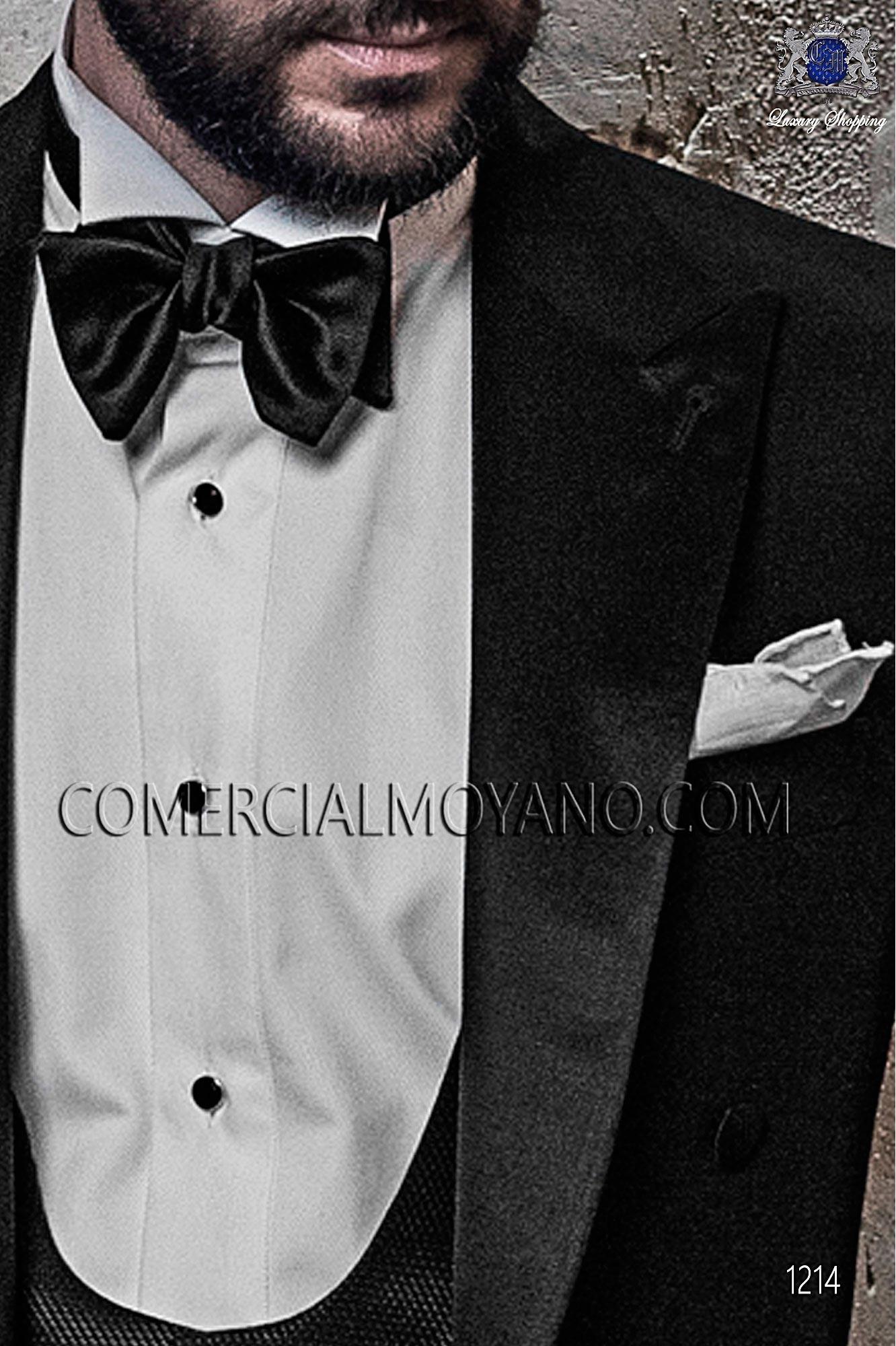 Italian blacktie Black men wedding suit, model: 1214 Ottavio Nuccio Gala Black Tie Collection