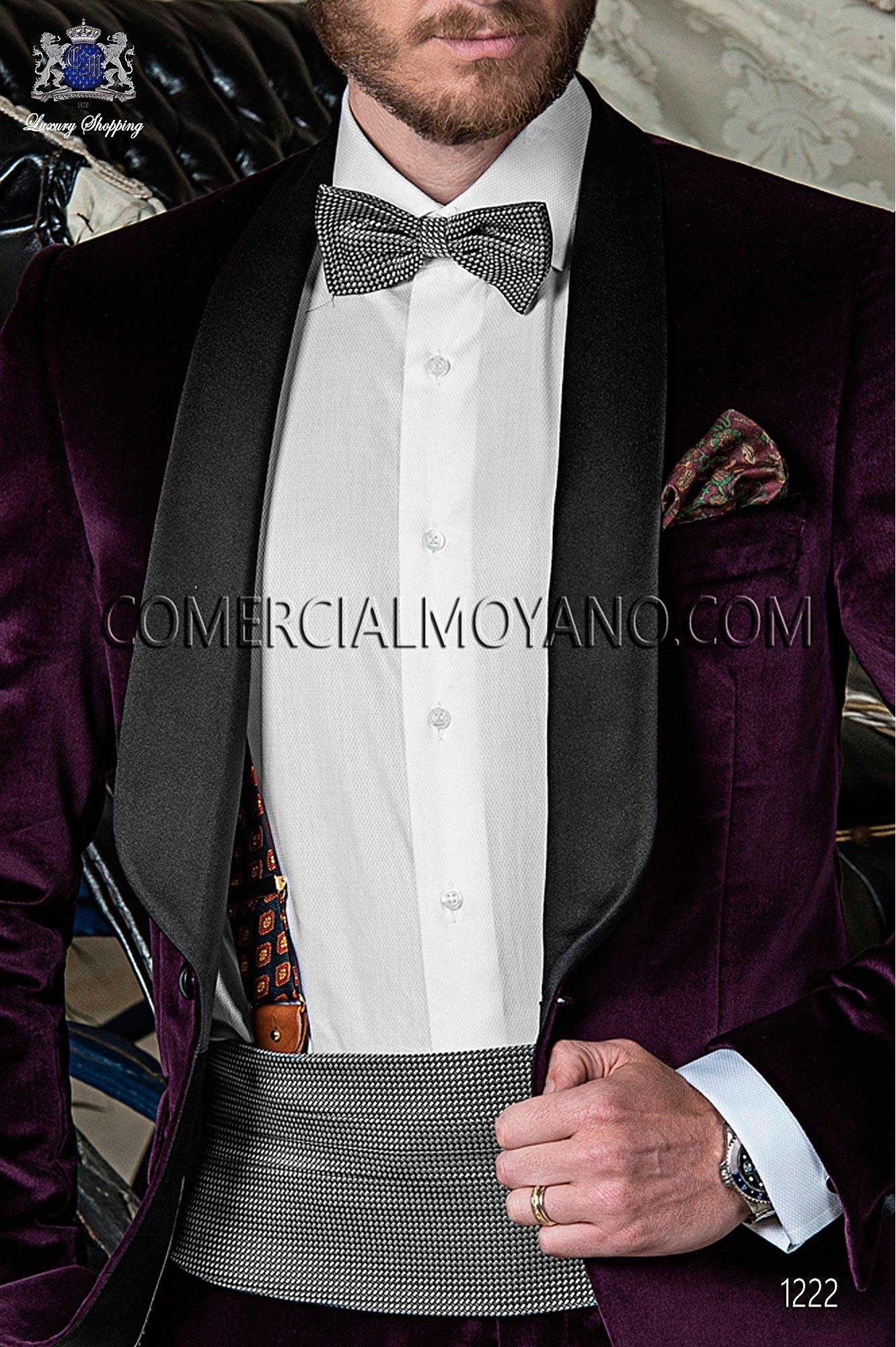 Traje BlackTie de novio morado modelo: 1222 Ottavio Nuccio Gala colección Black Tie 2017