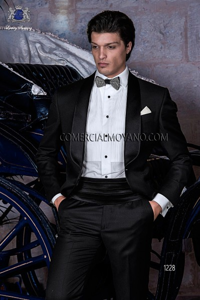 Italian blacktie black men wedding suit style 1228 Ottavio Nuccio Gala