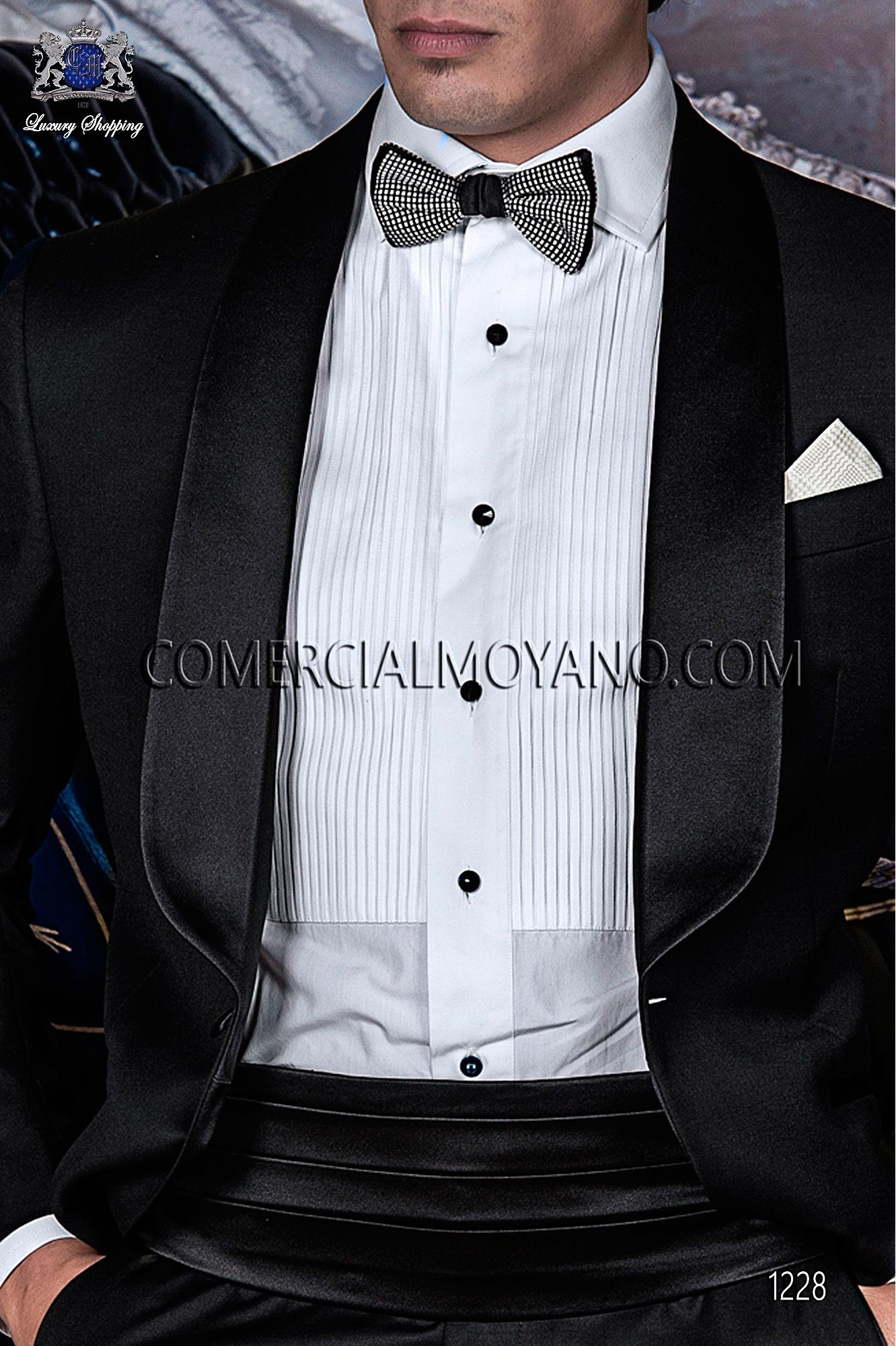 Italian blacktie Black men wedding suit, model: 1228 Ottavio Nuccio Gala Black Tie Collection