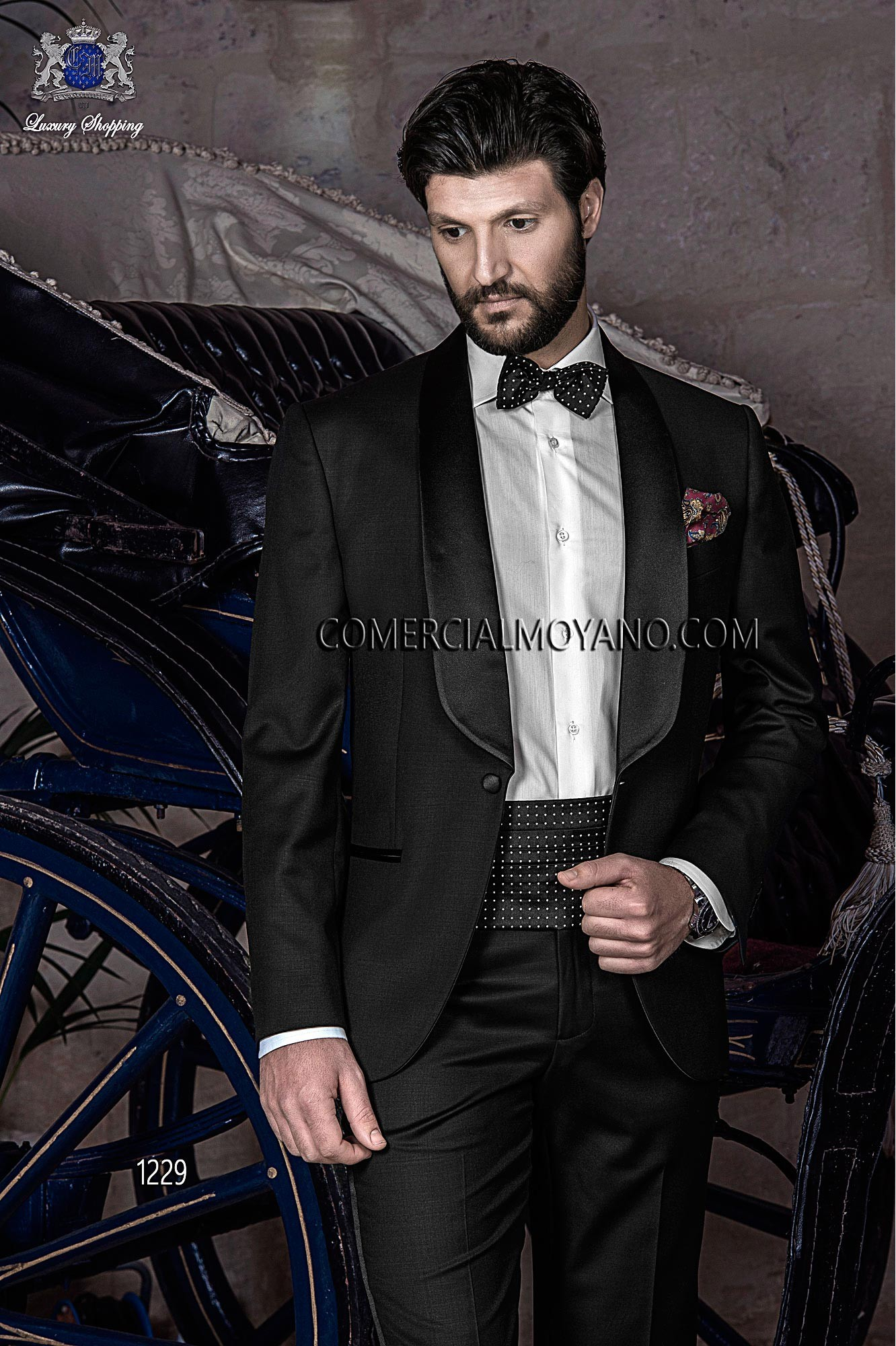 Black Tie Black men wedding suit model 1229 Ottavio Nuccio Gala