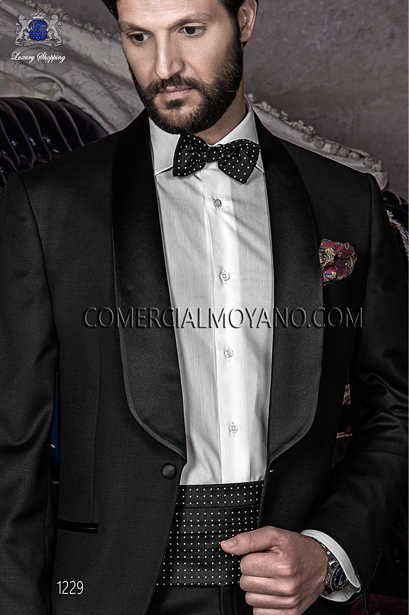 Black Tie Black men wedding suit, model: 1229 Ottavio Nuccio Gala ...