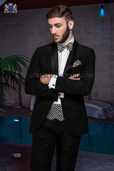Italian blacktie black men wedding suit style 1230 Ottavio Nuccio Gala