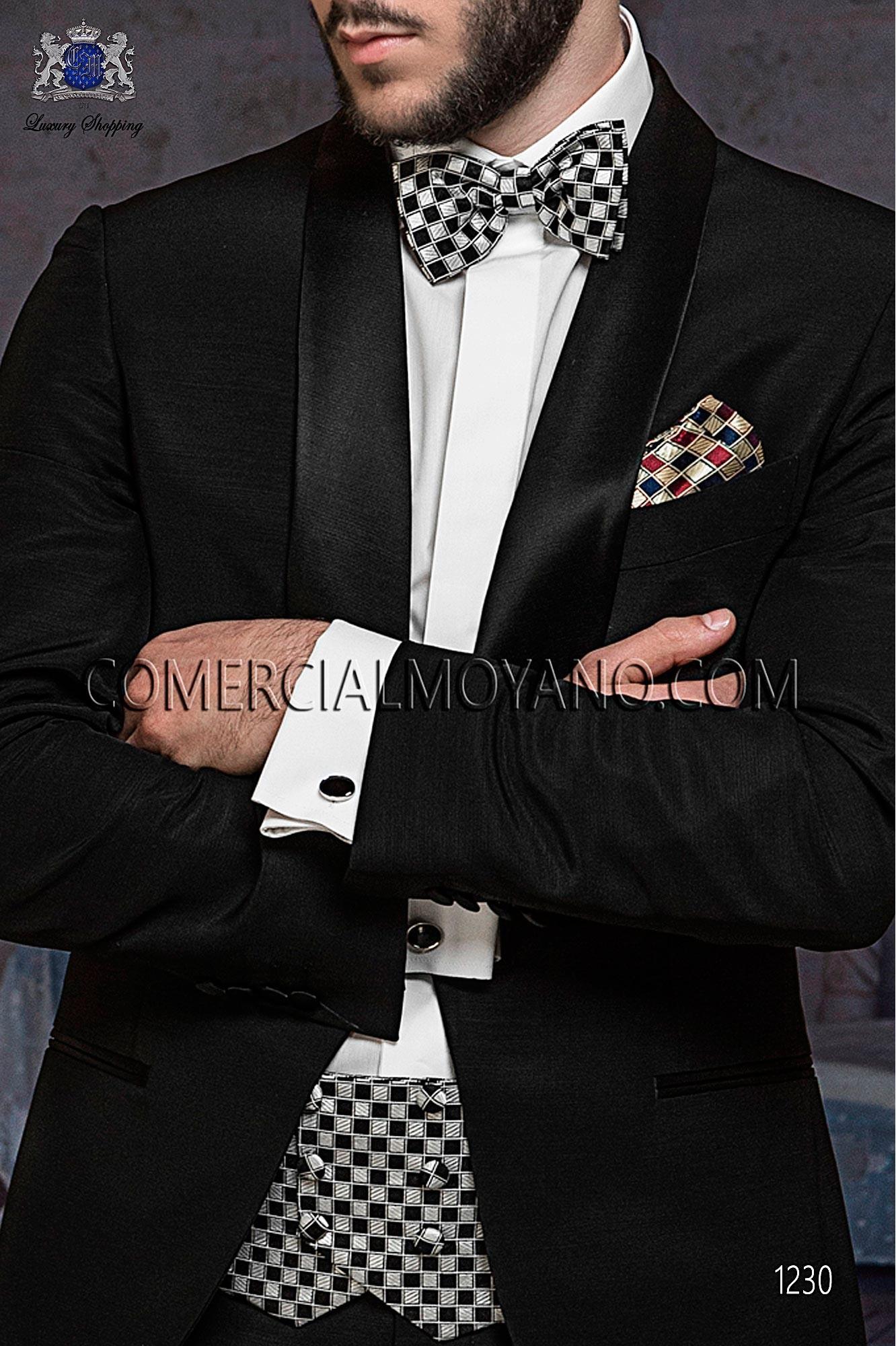 Traje BlackTie de novio negro modelo: 1230 Ottavio Nuccio Gala colección Black Tie