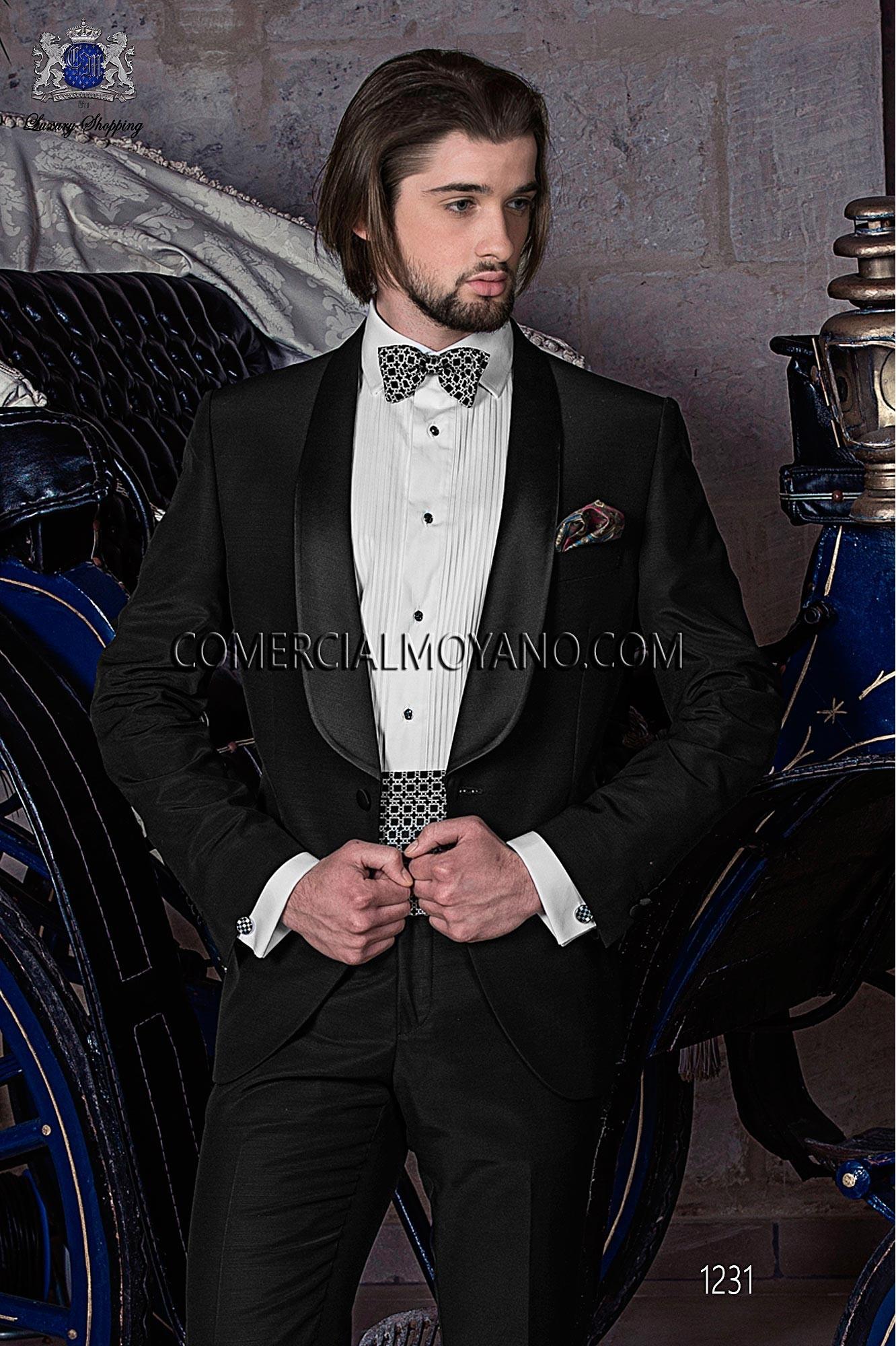 Traje BlackTie de novio negro modelo: 1231 Ottavio Nuccio Gala colección Black Tie