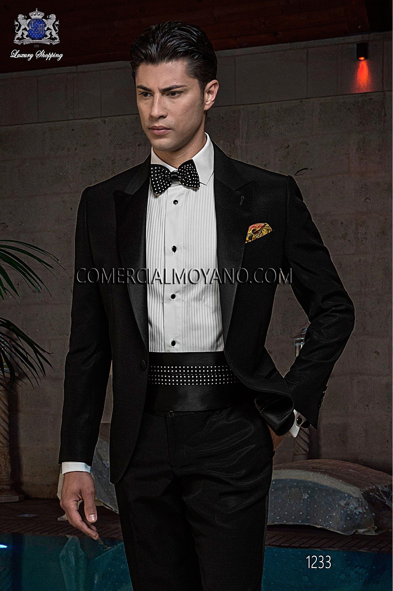 Traje BlackTie de novio negro modelo: 1233 Ottavio Nuccio Gala colección Black Tie