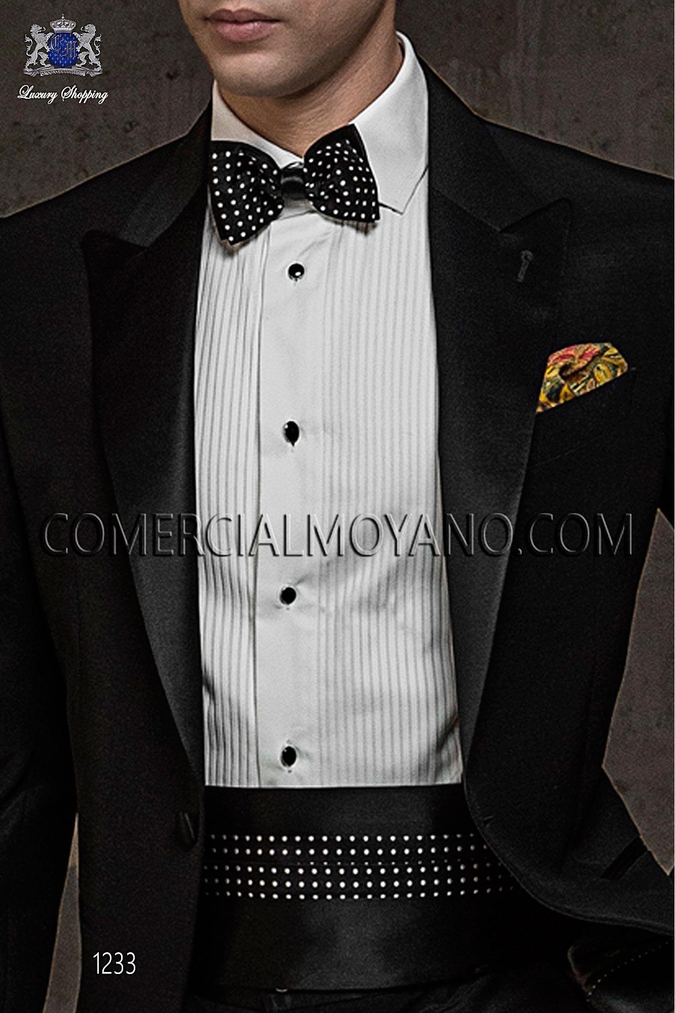 Italian blacktie Black men wedding suit, model: 1233 Ottavio Nuccio Gala Black Tie Collection