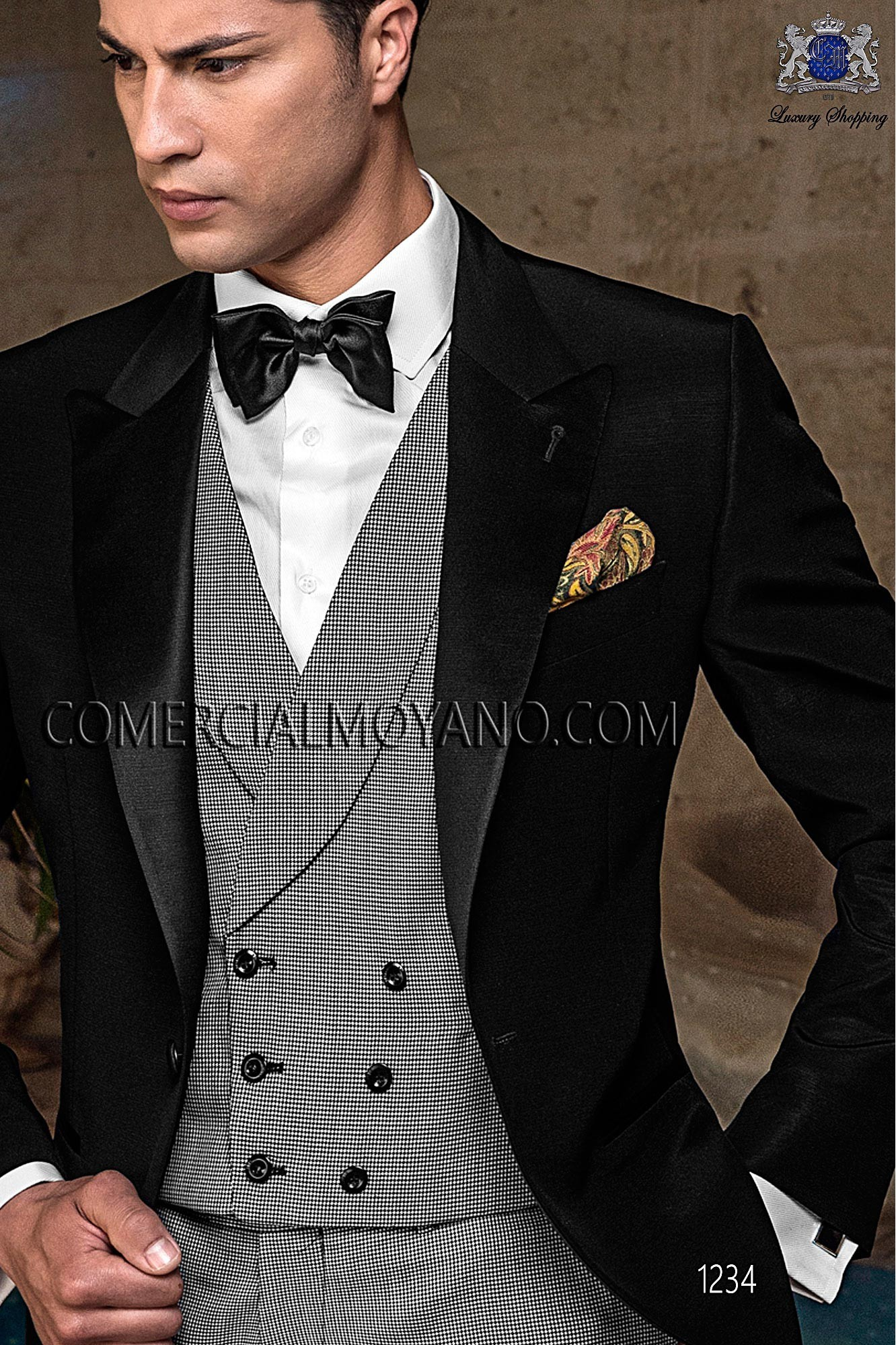 Traje BlackTie de novio negro modelo: 1234 Ottavio Nuccio Gala colección Black Tie