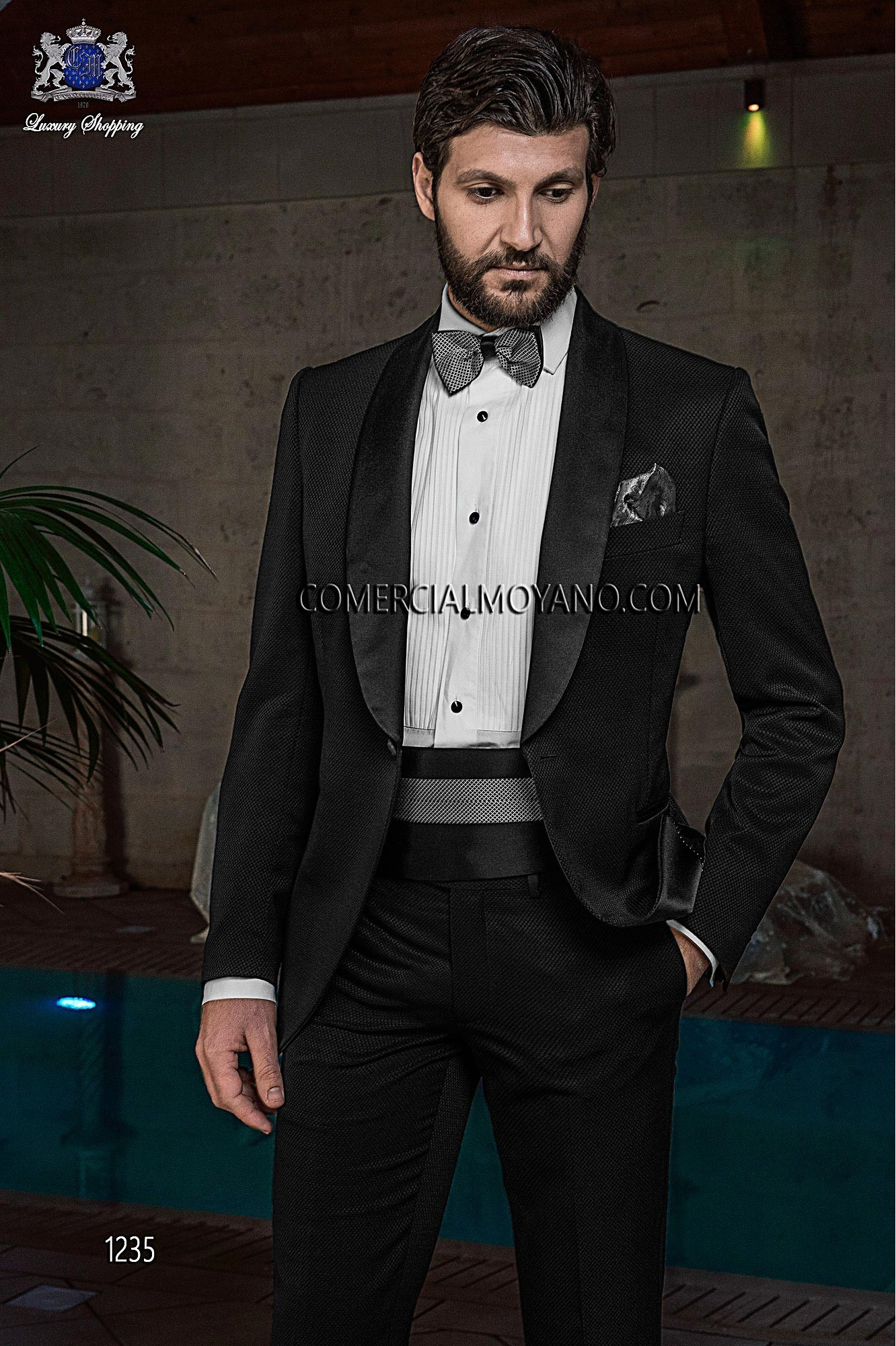 Black Tie Black men wedding suit model 1235 Ottavio Nuccio Gala