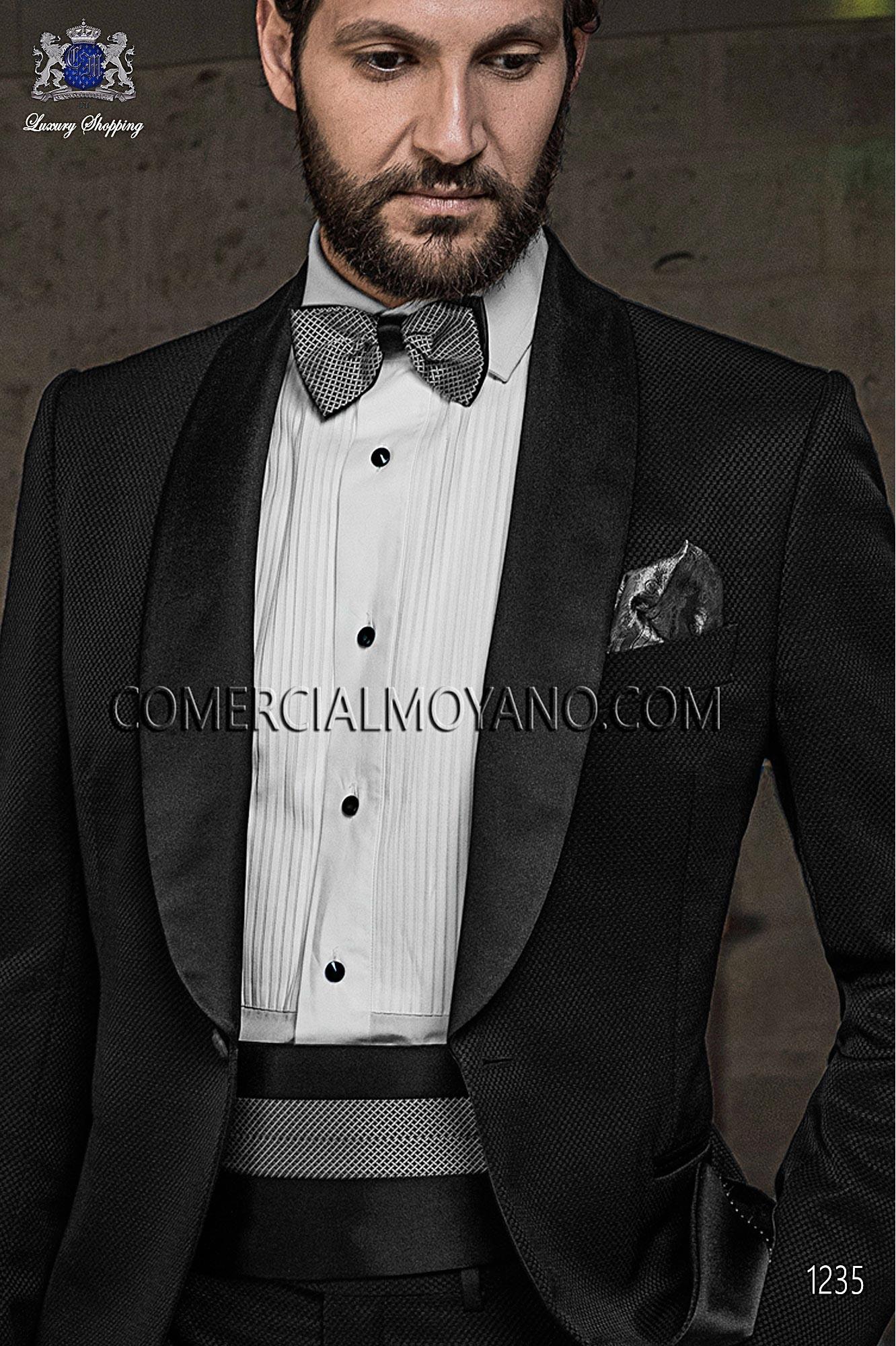 Traje BlackTie de novio negro modelo: 1235 Ottavio Nuccio Gala colección Black Tie