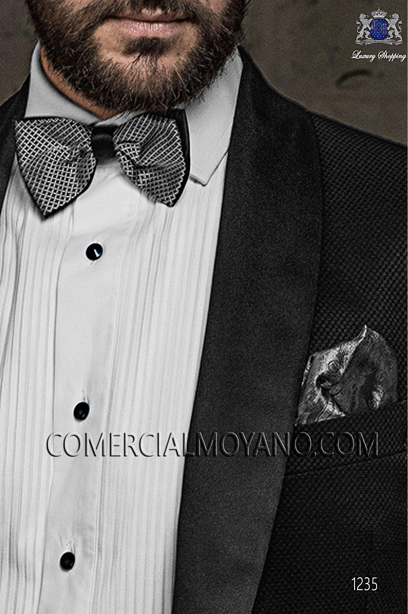 Italian blacktie Black men wedding suit, model: 1235 Ottavio Nuccio Gala Black Tie Collection
