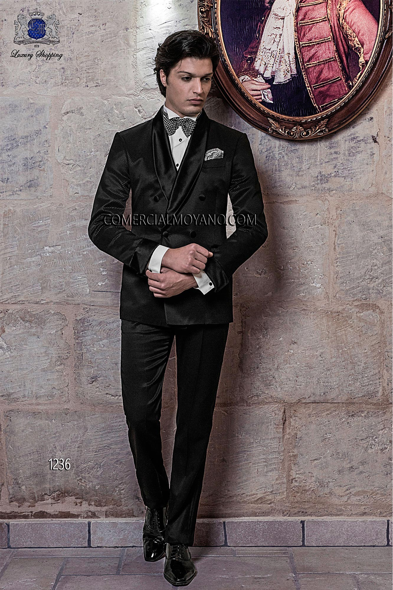 Black Tie Black men wedding suit model 1236 Ottavio Nuccio Gala