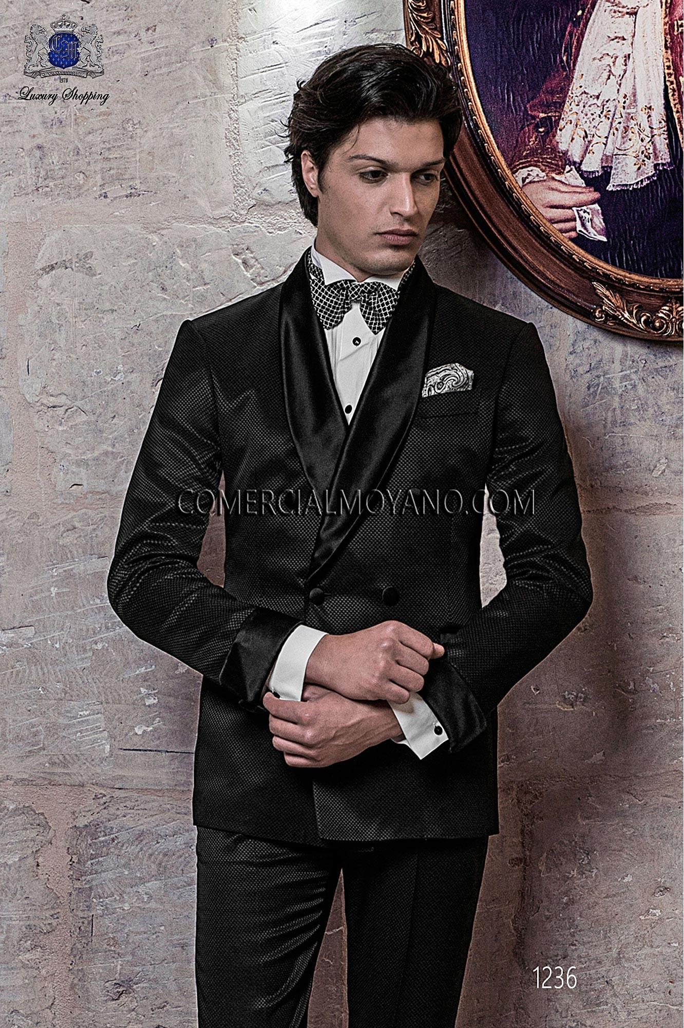 Traje BlackTie de novio negro modelo: 1236 Ottavio Nuccio Gala colección Black Tie 2017