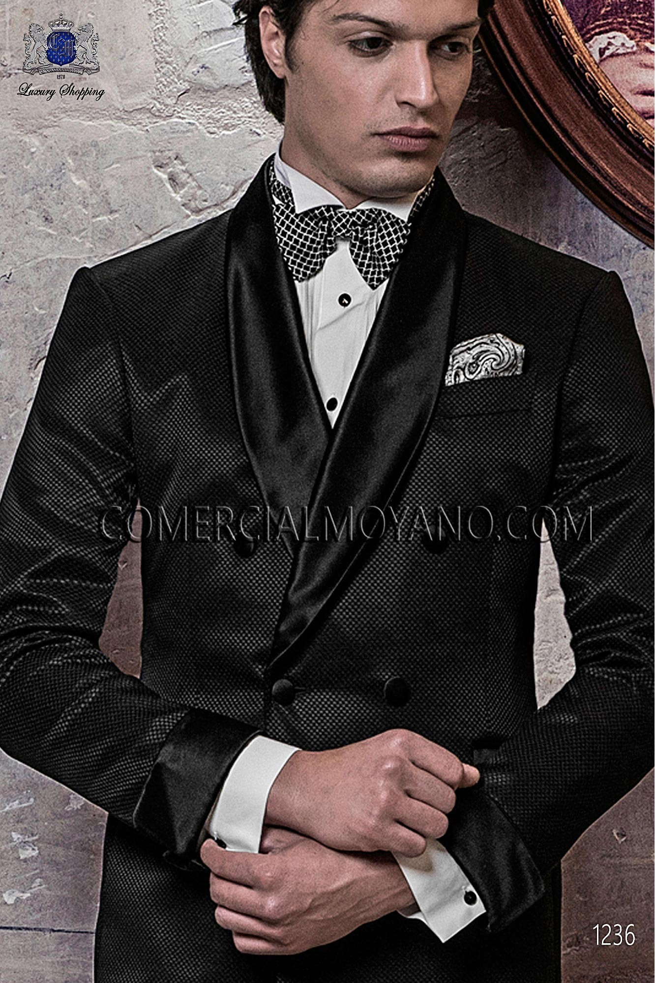 Italian blacktie Black men wedding suit, model: 1236 Ottavio Nuccio Gala 2017 Black Tie Collection