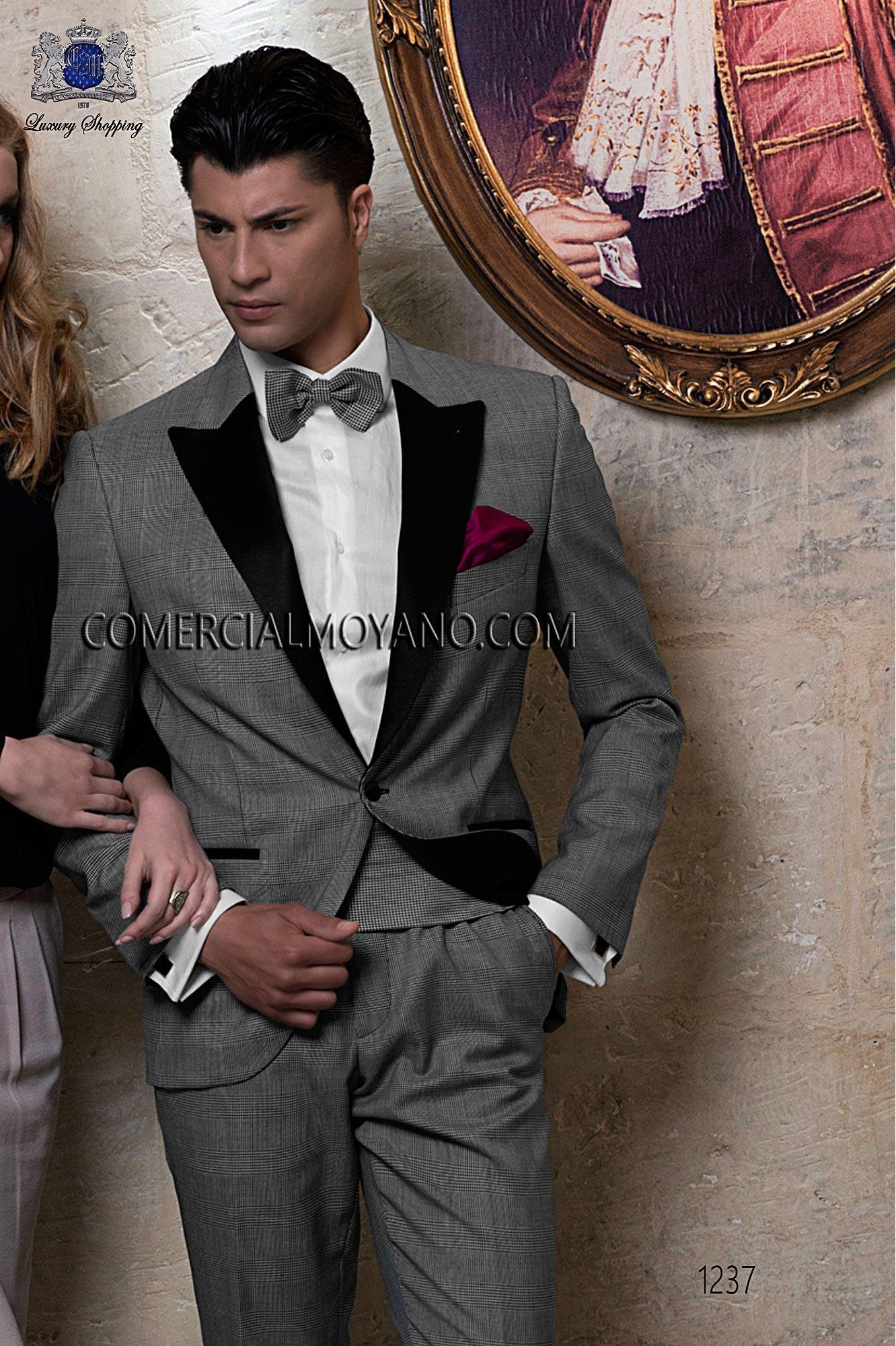 Traje BlackTie de novio gales gris modelo: 1237 Ottavio Nuccio Gala colección Black Tie