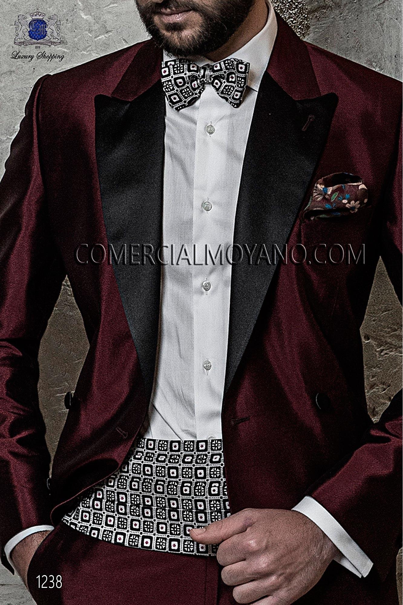 Italian blacktie Burgundy men wedding suit, model: 1238 Ottavio Nuccio Gala Black Tie Collection